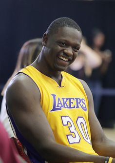 Julius Randle @ Lakers Media Day 9-29-14