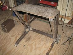 Welding bench, drilled for clamping    Tig Table - WeldingWeb™ - Welding forum for pros and enthusiasts