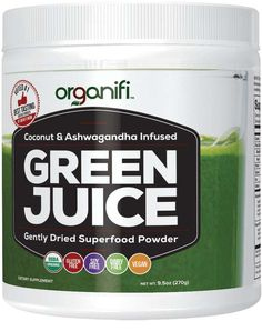 Organifi GREEN JUICE A perfect blend of adaptogens for immune support/gentle detox/adrenal support and a ton of nutrients. Awesome every single day! Green Juice Detox, How To Stop Cravings, Superfood Powder, Green Powder, Nutritional Supplements, Protein Supplements, Natural Supplements, Herbalism, Green Juices