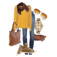 """More Leopard"" by karrina-renee-krueger on Polyvore - Love the shoes!"