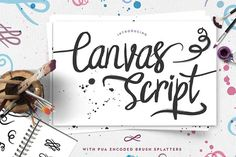 Canvas Script Free Font is a free exclusive font from font bundles that comes with PUA encoded features such as brush splatters. The font includes our full