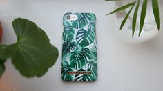 Monstera Jungle by lovely @flarback - Fashion case phone cases iphone inspiration iDeal of Sweden #green #leaf #palm #tropical #gold #fashion #inspo #iphone