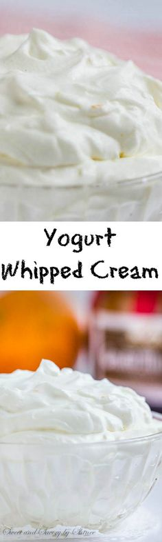 Fluffy, light, sweet and tangy, this incredibly versatile yogurt whipped cream will be your favorite topping for pies, cakes, and pancakes! You need this in your life.