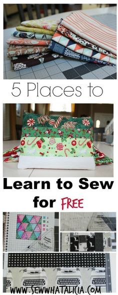 5 Places to Learn to Sew for Free - www.sewwhatalicia.com #sewing #sewallthethings