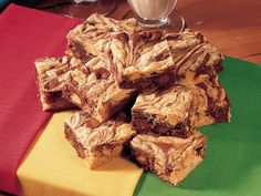 Peanut Butter Swirl Brownies - making these for the guys' deer hunting weekend