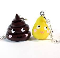 pee and poop bff necklace