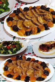 ΜΑΓΕΙΡΙΚΗ ΚΑΙ ΣΥΝΤΑΓΕΣ 2: Ψητό φούρνου με αποξηραμένα φρούτα !!!! Breakfast Recipes, Snack Recipes, Dinner Recipes, Cooking Recipes, Healthy Recipes, Christmas Cooking, Christmas Recipes, Yams, Greek Recipes