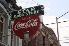 star drug store neon sign. Galveston, Texas