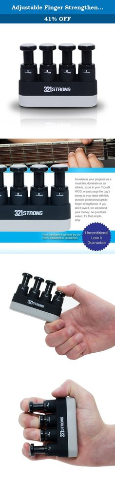 Adjustable Finger Strengthener and Hand Exerciser for Guitar , Piano , or Therapy - with BONUS 4K Ultra HD eBook. Adults and children alike will love the work out routine they can bring with them , use any time , and see results in their activities . Whether that's violin , core conditioning , martial arts , music practice , shooting , or wrestling , you'll benefit from the strength , mobility , dexterity and flexibility that this trainer develops . Body Builders , guitarists , martial...