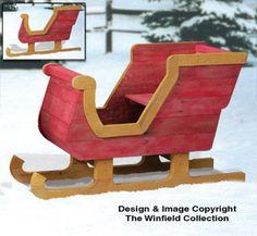 wooden sleigh skids | Pallet Wood Sleigh Plans