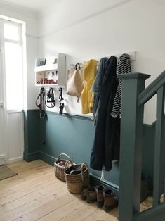 Dekoration Apartment Apothecary hallway Storage UnfinishedOur unfinished hallway and need for storage Apartment Apothecary Hallway Colours, Apartment Storage, Hallway Paint, Hallway Storage, New Homes, Home Decor, Home Renovation, Narrow Hallway Decorating, Living Room Designs