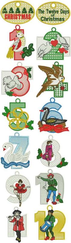 Advanced Embroidery Designs - 12 Days of Christmas Set