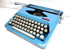 Vintage Typewriter Baby Blue Royal Parade by GoodBonesVintageCo, $220.00