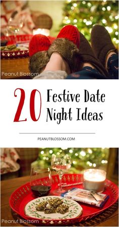 20 festive date nights ideas to light the sparks with your spouse during the holidays! Take the time during the busy season to slow down and enjoy a little magic together!