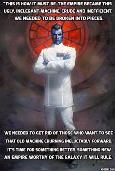Thrawn the true heir to the Empire Star Wars Art, Star Trek, Thrawn Star Wars, Grand Admiral Thrawn, Star Wars Novels, Dungeons And Dragons Memes, Han And Leia, Evil Empire, Bad Feeling