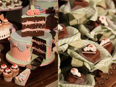 gorgeous 'fake cakes' at a candy shop party