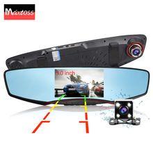 """5"""" μηχανή του αυτοκινήτου καθρέφτη αυτοκινήτων ίντσας τα DVR αυτοκινήτων DVR διπλής εγγραφής φακό βίντεο Registrator παύλα cam πλήρη HD1080p νυχτερινή όραση"""