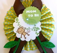 Jungle/Monkey Themed Baby Shower Pin by JerriBlossoms on Etsy