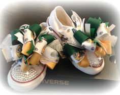 Green Bay Packers Hair and Shoe Bows