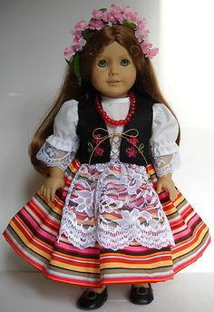 "Fits American Girl 18"" doll clothes Polish Poland folk dance B (COSTUME ONLY)"