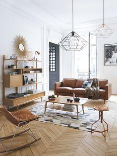 Decora tu casa de #cine: estética Wes Anderson #salón #sofá