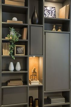 Home library furniture ikea billy ideas - Thuisdecoratie Home Library Design, Home Office Design, Home Office Decor, Home Interior Design, Library Ideas, Interior Livingroom, Library Furniture, Home Office Furniture, Home Goods Wall Decor