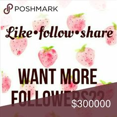 Follow game 1. Follow me 2. Like this post 3. Follow everyone who liked 4. Share. Please help me to reach 5K. Happy following😊😘 Forever 21 Other