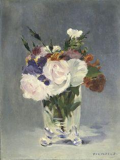 Мане, Эдуард - Цветы в хрустальной вазе. Национальная галерея искусств (Вашингтон)
