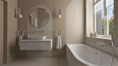 Praca konkursowa z wykorzystaniem mebli łazienkowych z kolekcji LOOK & AMBIO NEW #naszemeblenaszapasja #elitameble #meblełazienkowe #elita #meble #łazienka #łazienkaZElita2019 #konkurs Bathroom Lighting, Bathtub, Mirror, Furniture, Design, Home Decor, Bathroom Light Fittings, Standing Bath, Bathroom Vanity Lighting