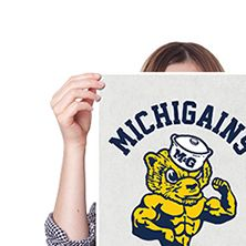 MICHIGAINS SWOLVERINES (POSTER) It's the University of Michigan Swolverines. Need we say more? Absolutely not. Matter of fact... Where do we get season tickets for this? #KottonZoo #BroScience #BroScienceLife #Fitness #Humor #Swole #Gains #College #Workout #AllOne