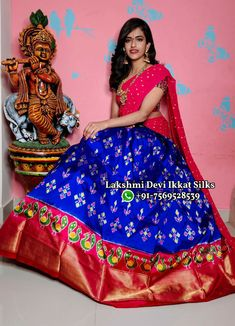 Anarkali Lehenga, Wishes Messages, Pochampally Sarees, Ikat, Dry Cleaning, Sari, Fancy, Colour, Blouse