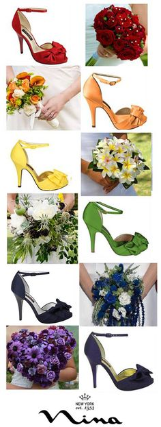 The Ella Pumps  - wedding shoes by Nina Shoes. Comes in 17 different colors. Love the idea of matching bouquet and wedding shoes! - http://ninashoes.com/electra-royal-silver-royal-satin--15021?c=277&utm_source=Pinterest&utm_medium=Social%20Media%20Campaign&utm_term=Wedding%20Chicks%2C%20Wedding%20Shoes&utm_content=Wedding%20Chicks%20Post%204&utm_campaign=Ella