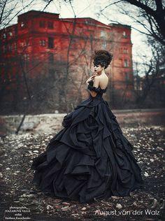Quinceanera black dress, Evening dress , ball gown, black wedding dress, open…