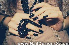 black 1 nail design