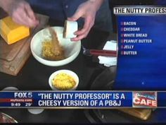Watch Spencer demonstrate how to make The Nutty Professor -- chunky peanut butter mixed with sharp cheddar and bacon bits, layered with grape jelly, and grilled between two buttered slices of Orwasher's white bread—on Good Day New York.