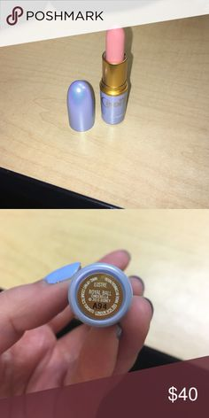 Mac Cinderella Lipstick in Royal Ball Swatched once! Realized the color wouldn't show up on my lips very much. Beautiful color! And limited edition! Would just end up not using! MAC Cosmetics Makeup Lipstick