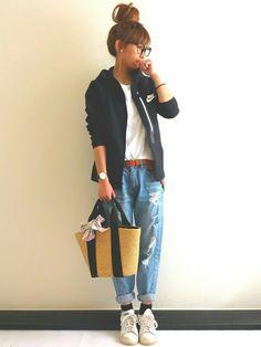 Ayumi|Kastaneのベルトを使ったコーディネート - WEAR