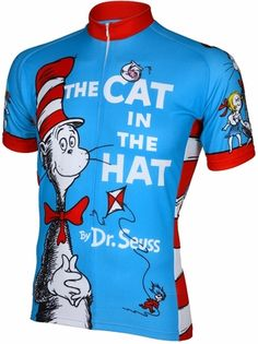 The Cat In The Hat Cycling Jersey by Retro (I prefer the cut of men's cycling jerseys to women's)