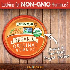 Looking for an alternative to GMO-laden Sabra? Check out Cedar's Mediterranean Foods, Inc. for non-GMO hummus! Did you know Pepsi (which owns Sabra) spent MILLIONS keep GMOs hidden so you wouldn't suspect GMOs in your snacks? Share this post far and wide and TAKE ACTION: http://gmoinside.org/sabra #GMOs #food #righttoknow #LabelGMOs
