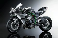 The Kawasaki Ninja H2R is a technology demonstrateor motorcycle that boasts an ubelieveable 300 horsepower from its supercharged engine.