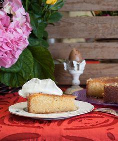 Σιροπιαστό κέικ με λεμόνι