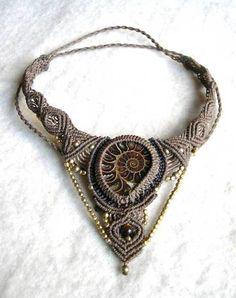 Makramee Kette Ammonit                                                                                                                                                      Mehr
