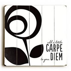 ArteHouse Signs - Add a little Carpe to Your Diem : Posters and Framed Art Prints Available