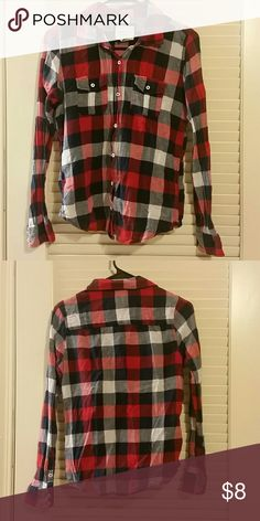 Red and blue plaid button down. Lightweight plaid button down. Forever 21 Tops Button Down Shirts