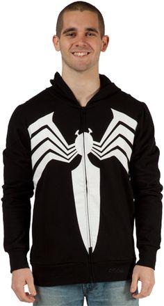 Black Spider-Man Masked Hoodie. WANTS SO BAD!!!!