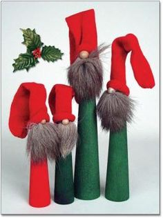 Skinny Guy Tomtar with Reindeer Beards ... I think I could make this!