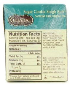 Sugar cookie sleigh ride tea recipes