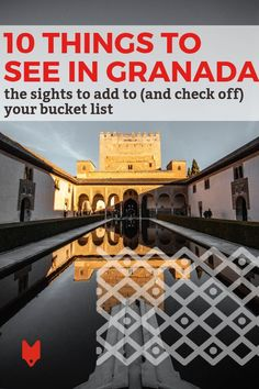 Granada is one of the most beautiful places in Europe, and there's no shortage of things to do in this magnificent city. From the stunning Alhambra with its luxury palaces, gardens, and courtyards; to the inside of a tiny, bustling tapas bar, there's so much to explore and discover. Our travel guide to the top 10 things to see in Granada will get you started. #Granada Spain Travel, Us Travel, Travel Guide, Isabella And Ferdinand, Spanish Culture, Places In Europe, Beautiful Inside And Out, Ultimate Travel, 14th Century