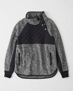 93222cadf7 Womens Asymmetrical Snap-Up Fleece
