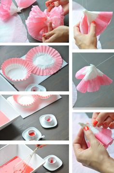 DIY coffee filter flowers -?!